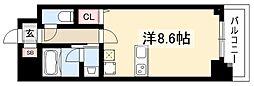 第2金山フクマルビル 8階ワンルームの間取り