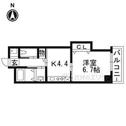 大阪モノレール彩都線 豊川駅 徒歩1分の賃貸マンション 6階1DKの間取り