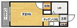 第1祇園Sビル[402号室]の間取り