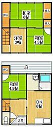 [一戸建] 兵庫県伊丹市緑ケ丘3丁目 の賃貸【兵庫県 / 伊丹市】の間取り