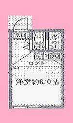 神奈川県横浜市港南区大久保3の賃貸アパートの間取り