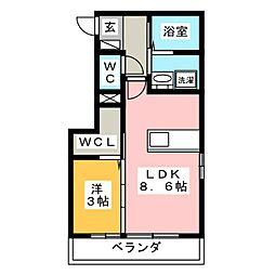 D−room駅元町 A棟[1階]の間取り