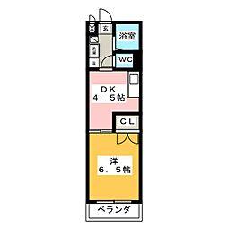 メゾンドマルキーズ[2階]の間取り