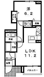 レフィナード2[1階]の間取り