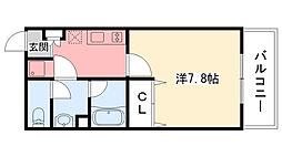 兵庫県西宮市浜甲子園1丁目の賃貸マンションの間取り