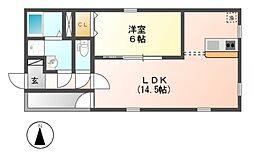 グランレーヴ金山II[3階]の間取り