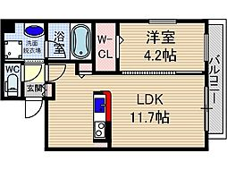 山崎マンション15[4階]の間取り