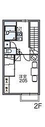 JR青梅線 羽村駅 徒歩12分の賃貸アパート 2階1Kの間取り