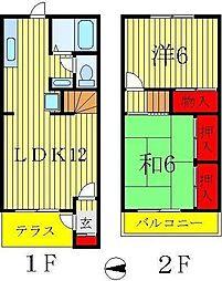 [テラスハウス] 千葉県松戸市日暮 の賃貸【/】の間取り