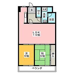 第2サンシャインマンション[3階]の間取り
