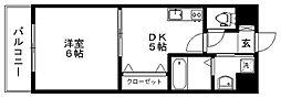 ルネッサンス久留米六ツ門[E902号室]の間取り