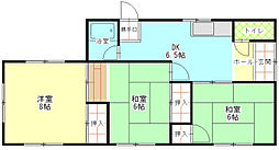 [一戸建] 静岡県富士市原田 の賃貸【静岡県 / 富士市】の間取り