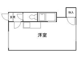 北海道札幌市北区北七条西7丁目の賃貸アパートの間取り
