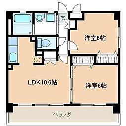 グランメール横浜[1階]の間取り