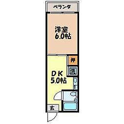 長崎県長崎市油木町の賃貸マンションの間取り