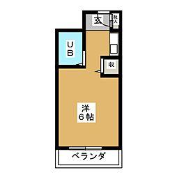RITZY月見坂[3階]の間取り