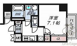 リーガレジデンス豊崎[3階]の間取り