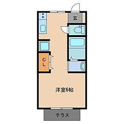三重県鈴鹿市末広南3丁目の賃貸アパートの間取り