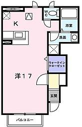 ヴィラアクティブ・エフ2[1階]の間取り