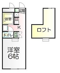 KT[1階]の間取り
