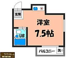 大阪府堺市堺区中安井町2丁の賃貸マンションの間取り