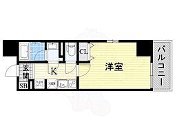 福岡市地下鉄空港線 赤坂駅 徒歩2分の賃貸マンション 5階1Kの間取り