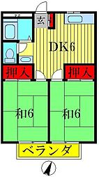 吉野ハイツ[2階]の間取り