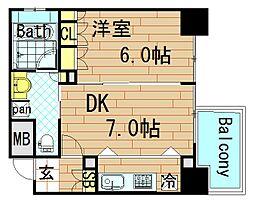 リーガル四ツ橋立売堀II[3階]の間取り