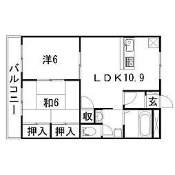 静岡県浜松市東区上新屋町の賃貸マンションの間取り