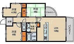 今福グリーンマンション[7階]の間取り