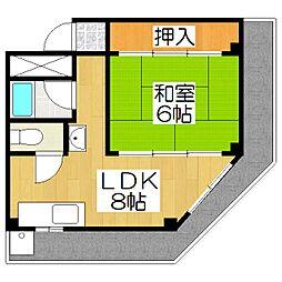 長谷川ビル[2A号室]の間取り