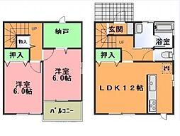 [テラスハウス] 茨城県つくばみらい市紫峰ヶ丘1丁目 の賃貸【/】の間取り