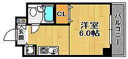 ロイヤル姫島[301号室]の間取り