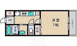 JR片町線(学研都市線) 松井山手駅 3.2kmの賃貸アパート 2階1Kの間取り
