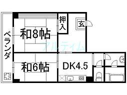 山幸マンション[5階]の間取り