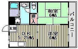 第2綾園マンション[403号室]の間取り