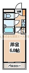 シャルマンフジ堺東弐番館[1階]の間取り