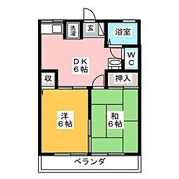 フローラルA[2階]の間取り