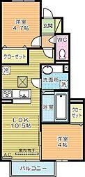 仮)D-room葛原[1階]の間取り
