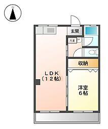 コーポ吉田[4階]の間取り