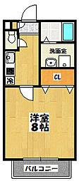 千葉県船橋市本中山3丁目の賃貸アパートの間取り