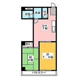 パール25[4階]の間取り