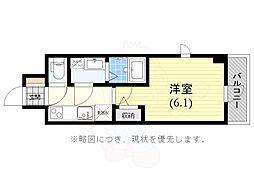 JR東海道・山陽本線 神戸駅 徒歩6分の賃貸マンション 5階1Kの間取り