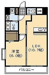 (新築)神宮東1丁目マンション[601号室]の間取り