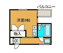 エムズ相模原[3階]の間取り