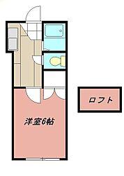 オアシス折尾[103号室]の間取り