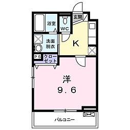 埼玉県さいたま市北区宮原町1丁目の賃貸アパートの間取り