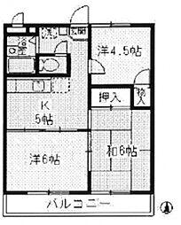 ラ・グリューII[1階]の間取り