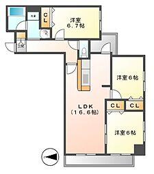 KDX泉レジデンス[8階]の間取り