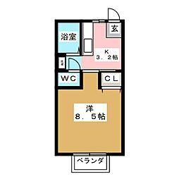 コーポあべ[2階]の間取り